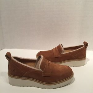 Ugg Atwater Spill Seam Platform Loafer Brown Shoe
